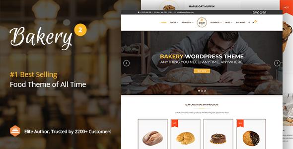 Bakery   WordPress Cake & Food Theme