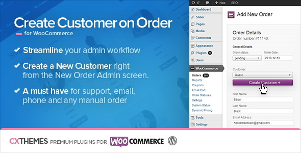 Create Customer on Order for WooCommerce