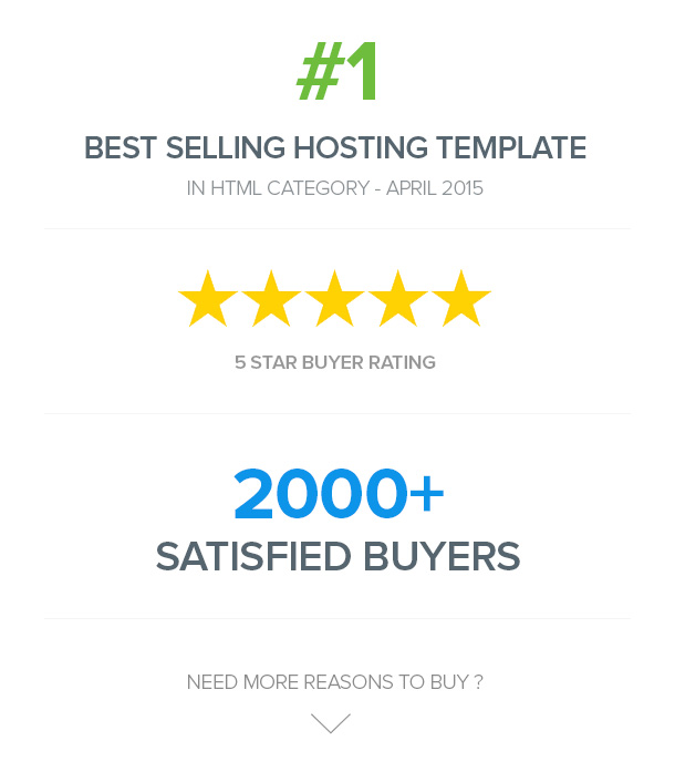FlatHost Responsive Hosting Template with WHMCS - 1