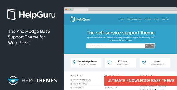 HelpGuru - A Self-Service Knowledge Base WordPress Theme