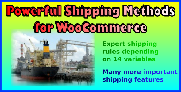 Powerful Shipping Methods for WooCommerce