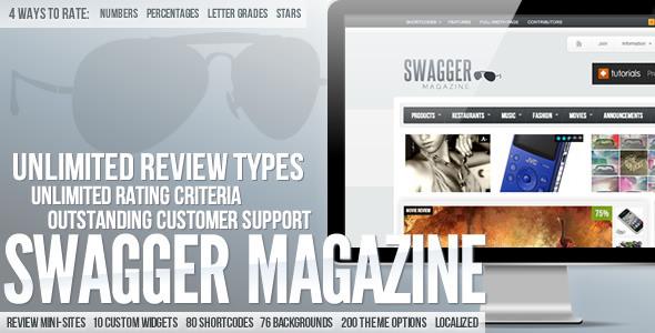 SwagMag - WordPress Magazine/Review Theme