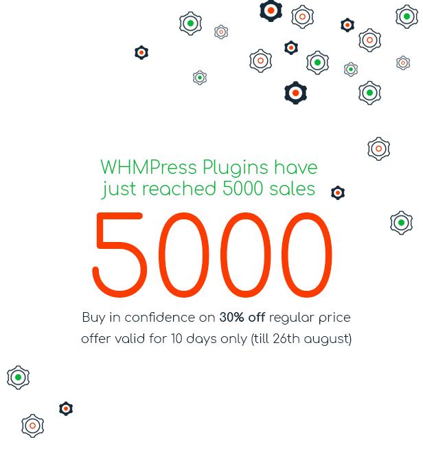 5000 Sales of WHMpress plugins