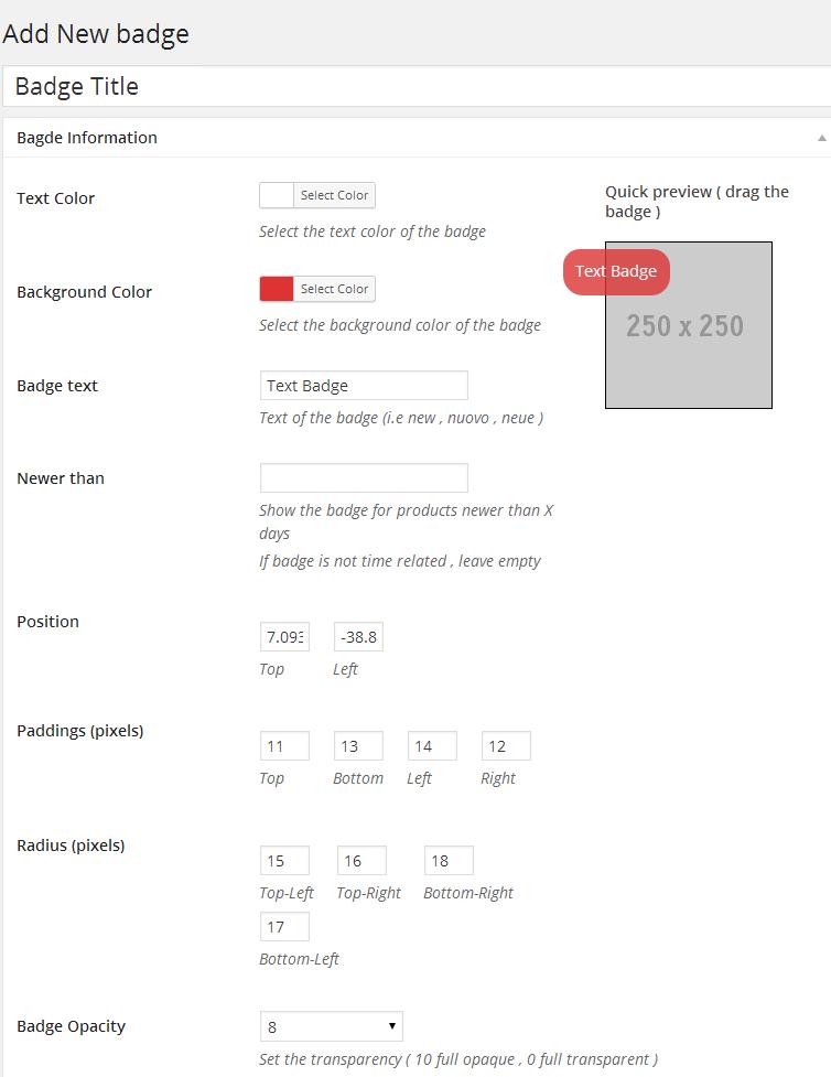 Woocommerce Products Badge Management - 7