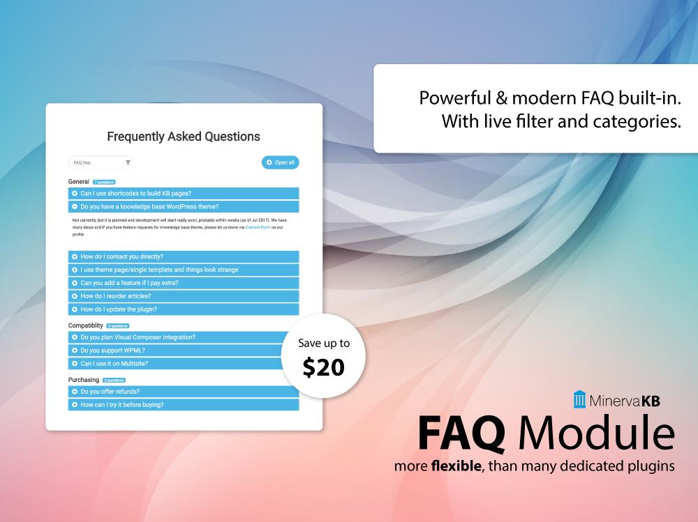 MinervaKB FAQ module