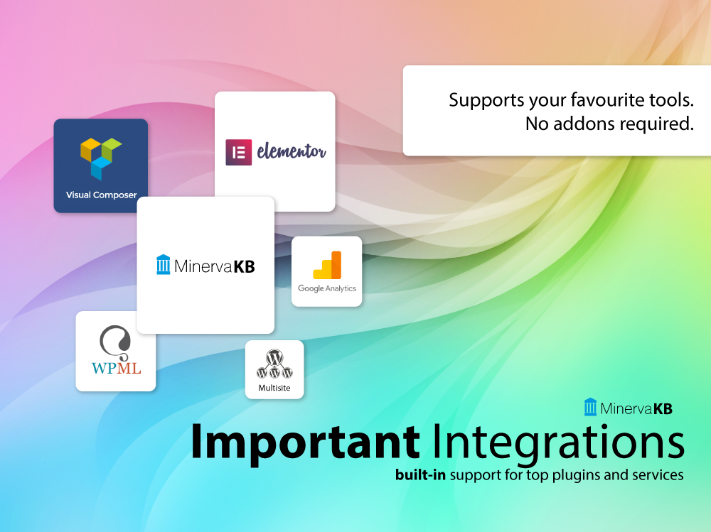 MinervaKB integrations with top plugins and services