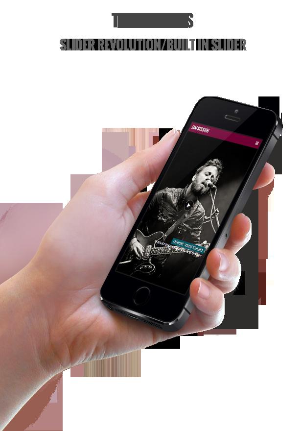 Music WordPress Theme - JamSession - slider