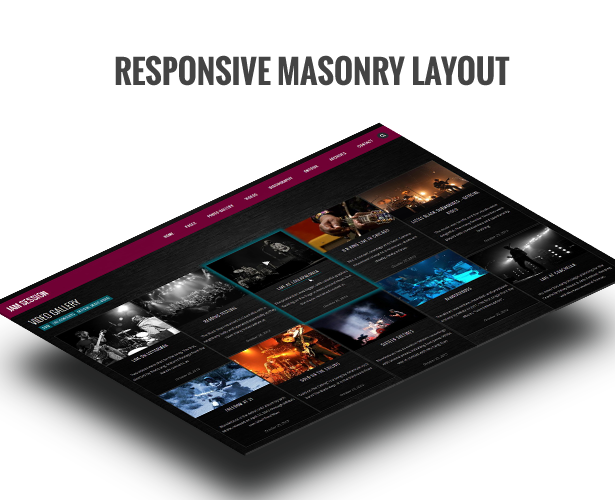 Music WordPress Theme - JamSession - Masonry
