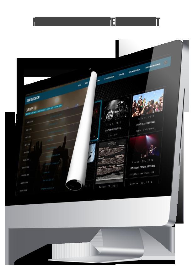 WordPress Music Theme - JamSession - List Or Masonry Layout