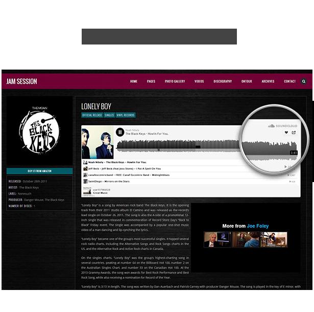 Music WordPress Theme - JamSession - SoundCloud