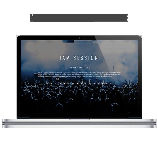 WordPress Music Theme - JamSession - Maintenance