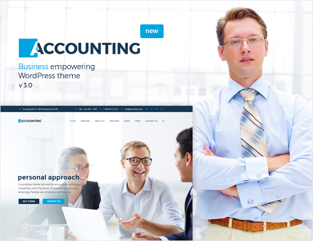 Accounting - Business, Consulting and Finance WordPress theme - 1