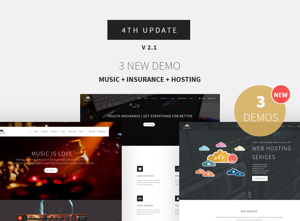 Massive - Responsive Multi-Purpose HTML5 Template - 4