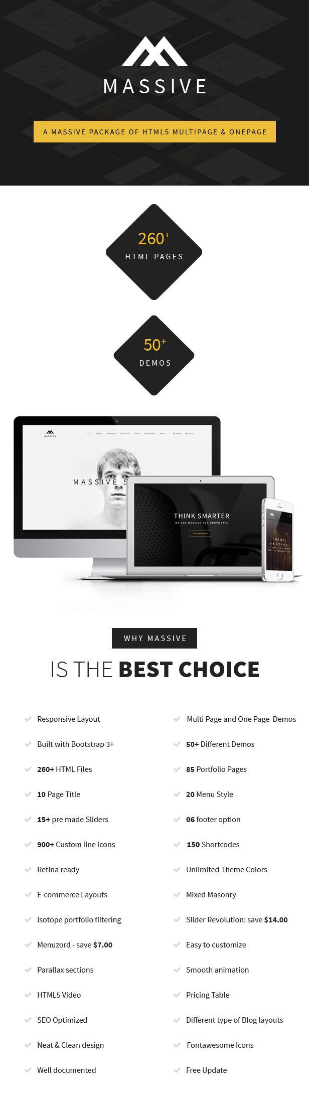 Massive - Responsive Multi-Purpose HTML5 Template - 8