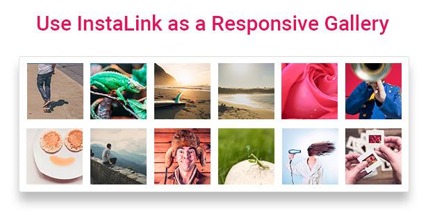 Responsive Instagram Gallery for website