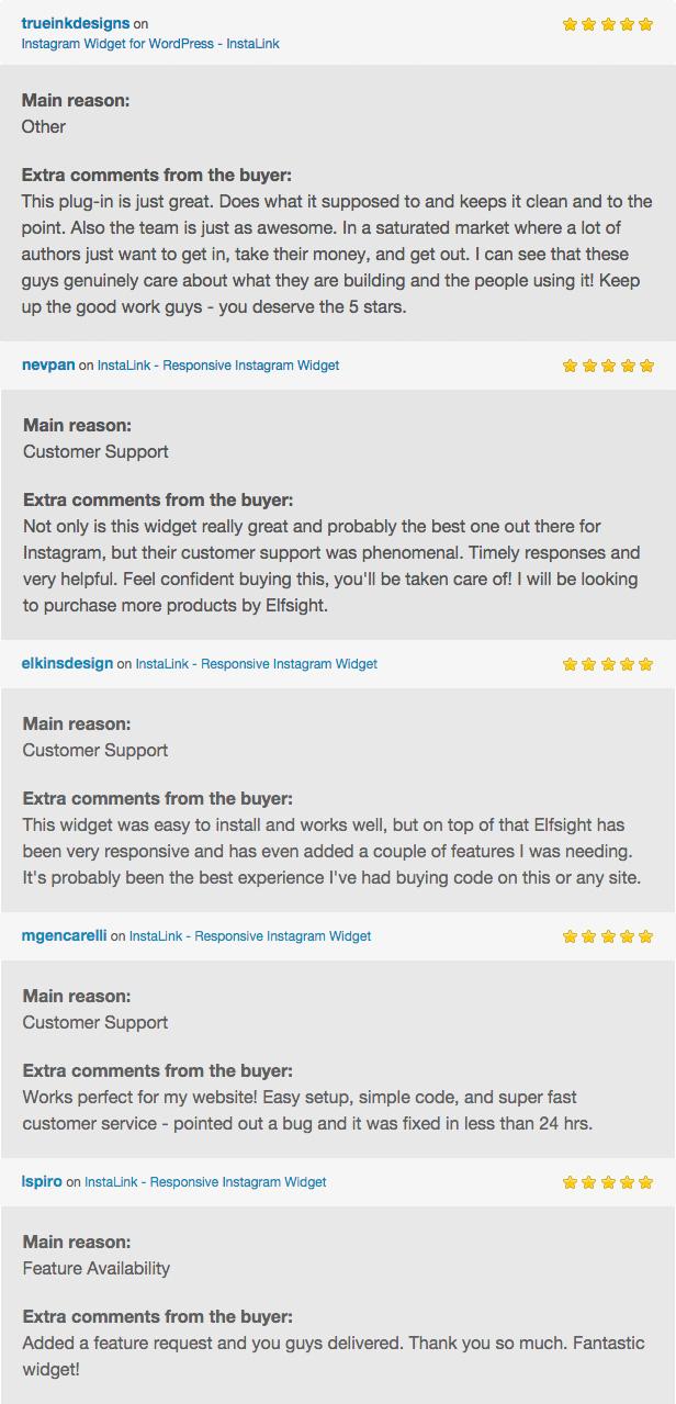 Customer Reviews on InstaLink