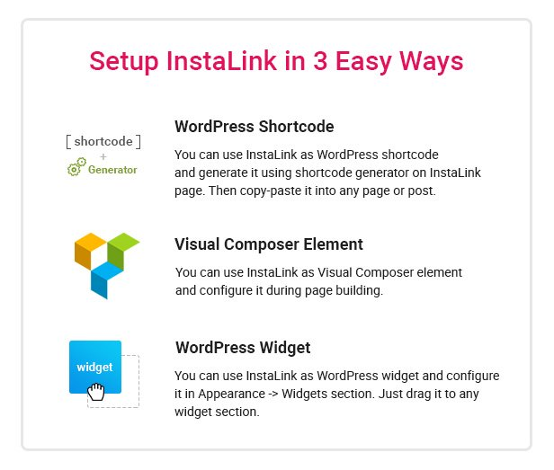 Use InstaLink in WordPress as you want