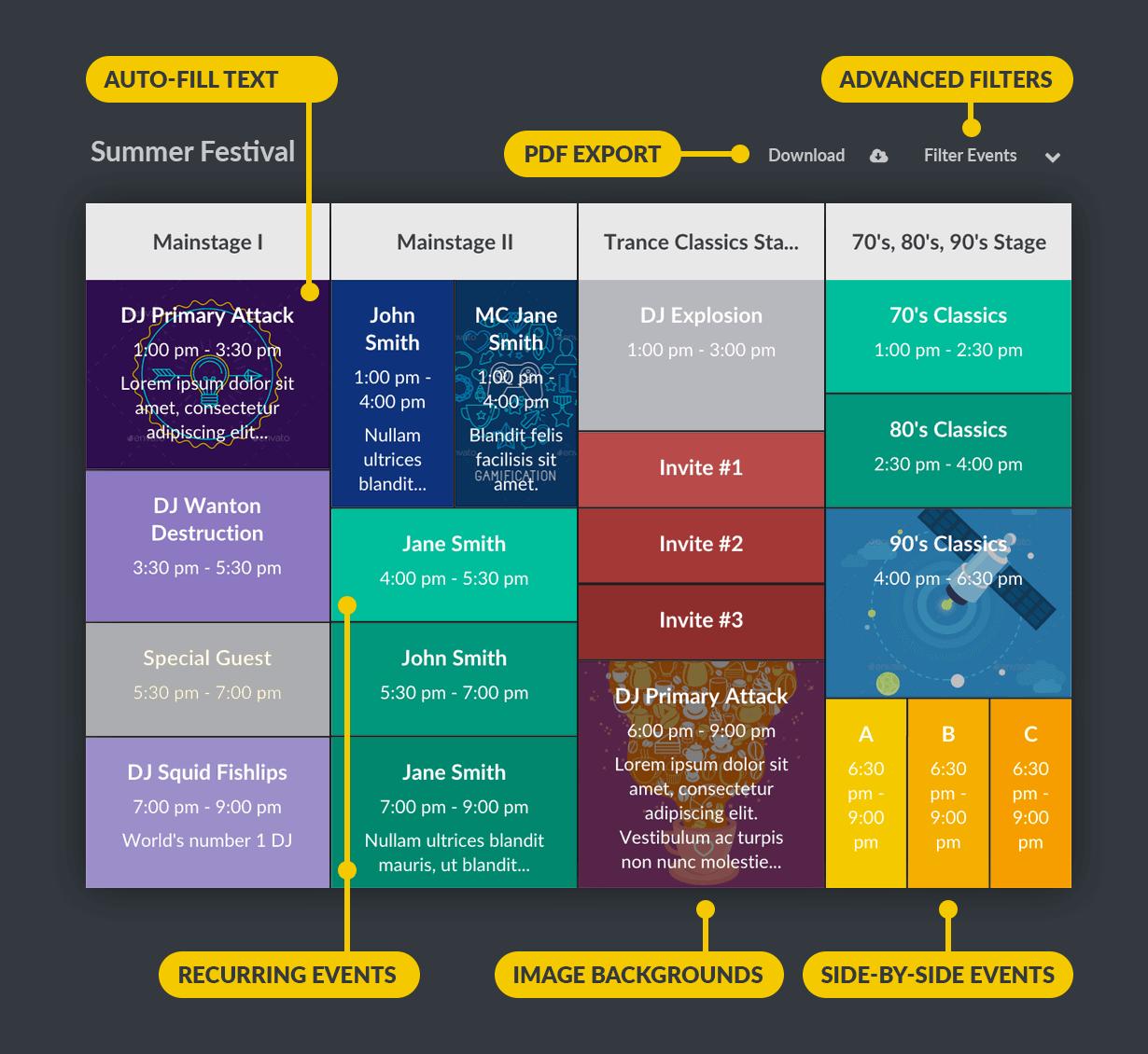 Responsive Timetable for WordPress - 3