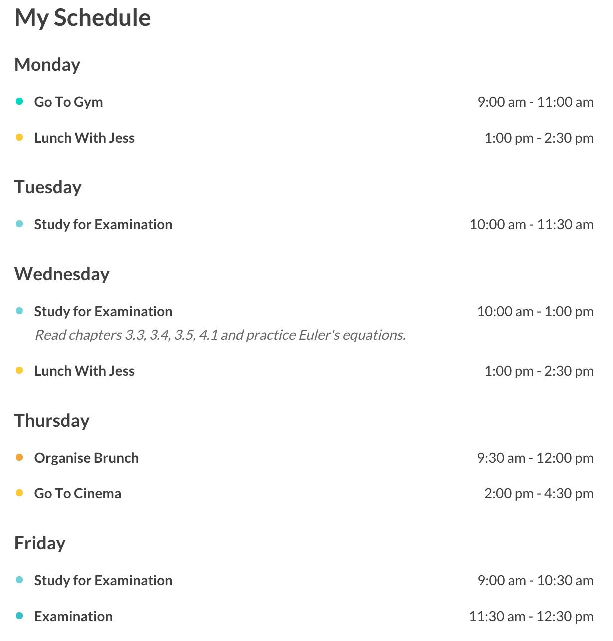 Responsive Timetable for WordPress - 9