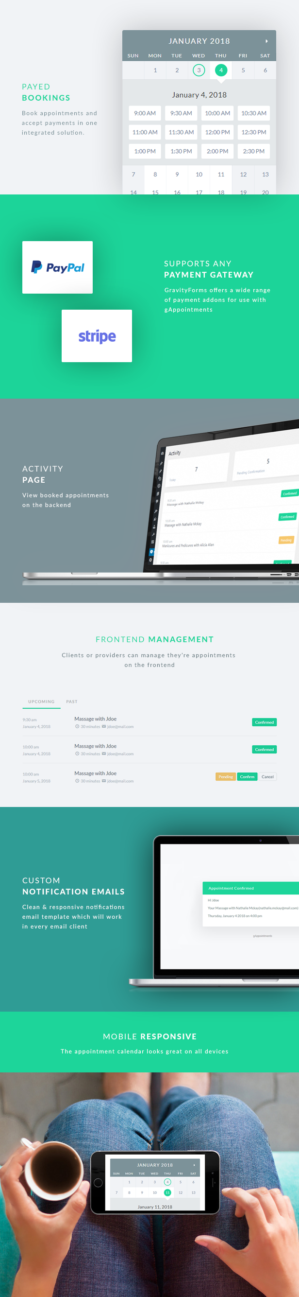 gAppointments - Appointment booking addon for Gravity Forms - 1