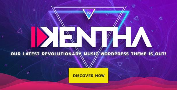 Kentha Music WordPress Theme