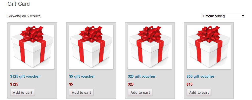 WooCommerce Gift Card - 3