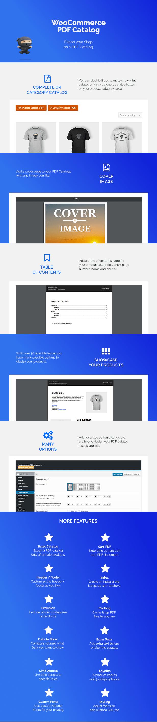 WooCommerce PDF Catalog Features