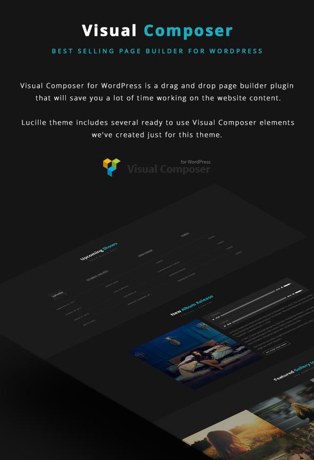 Lucille Music WordPress Theme - Visual Composer
