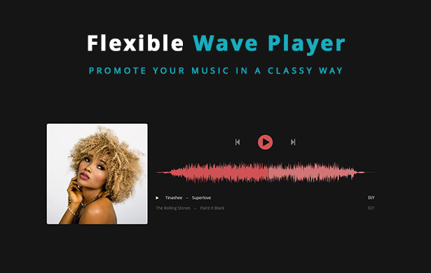 Lucille Music WordPress Theme - Wave Player