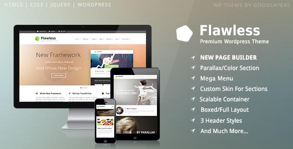 Flawless - Responsive Multi-Purpose WP Theme
