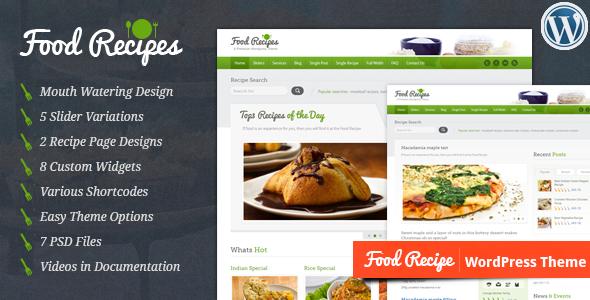 Food Recipes - WordPress Theme