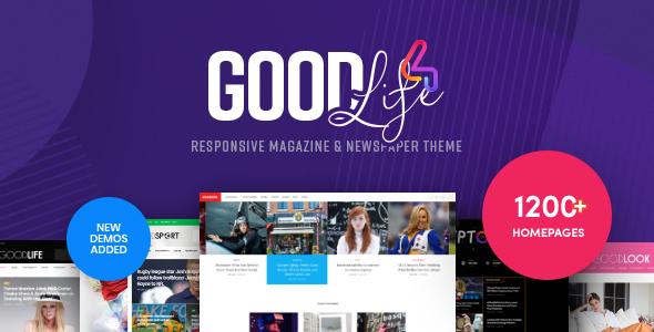 GoodLife - Magazine & Newspaper WordPress Theme