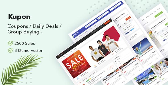 KUPON - Coupons / Daily Deals / Group Buying - Marketplace WordPress Theme