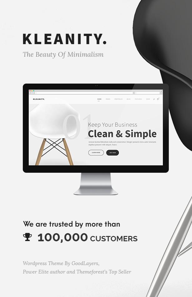 Kleanity - Minimalist WordPress Theme / Creative Portfolio - 1