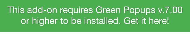 Secure Downloads - Green Popups Add-On