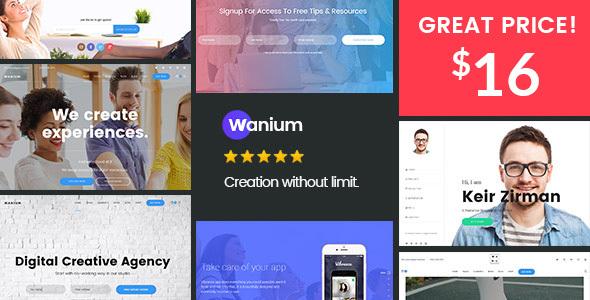Wanium - A Elegant Multi-Concept Theme