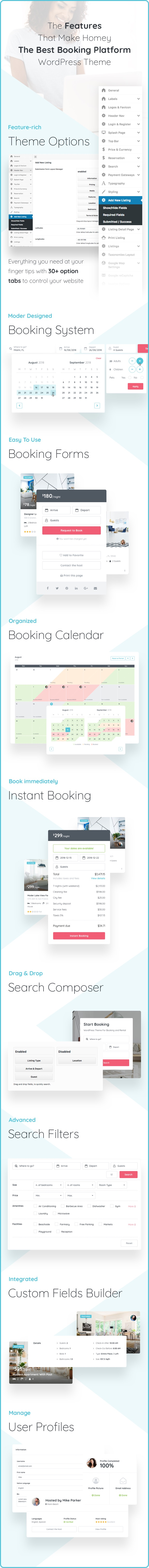 Homey - Booking and Rentals WordPress Theme - 7
