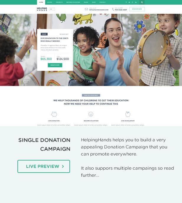 Charity WordPress Theme | HelpingHands - 5