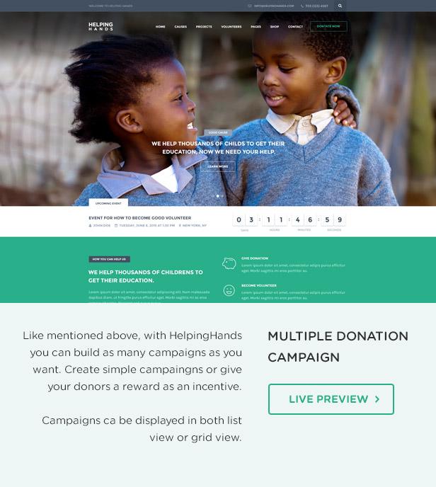 Charity WordPress Theme | HelpingHands - 6