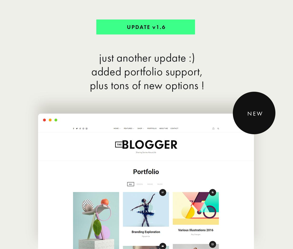 theblogger theme update v1.6