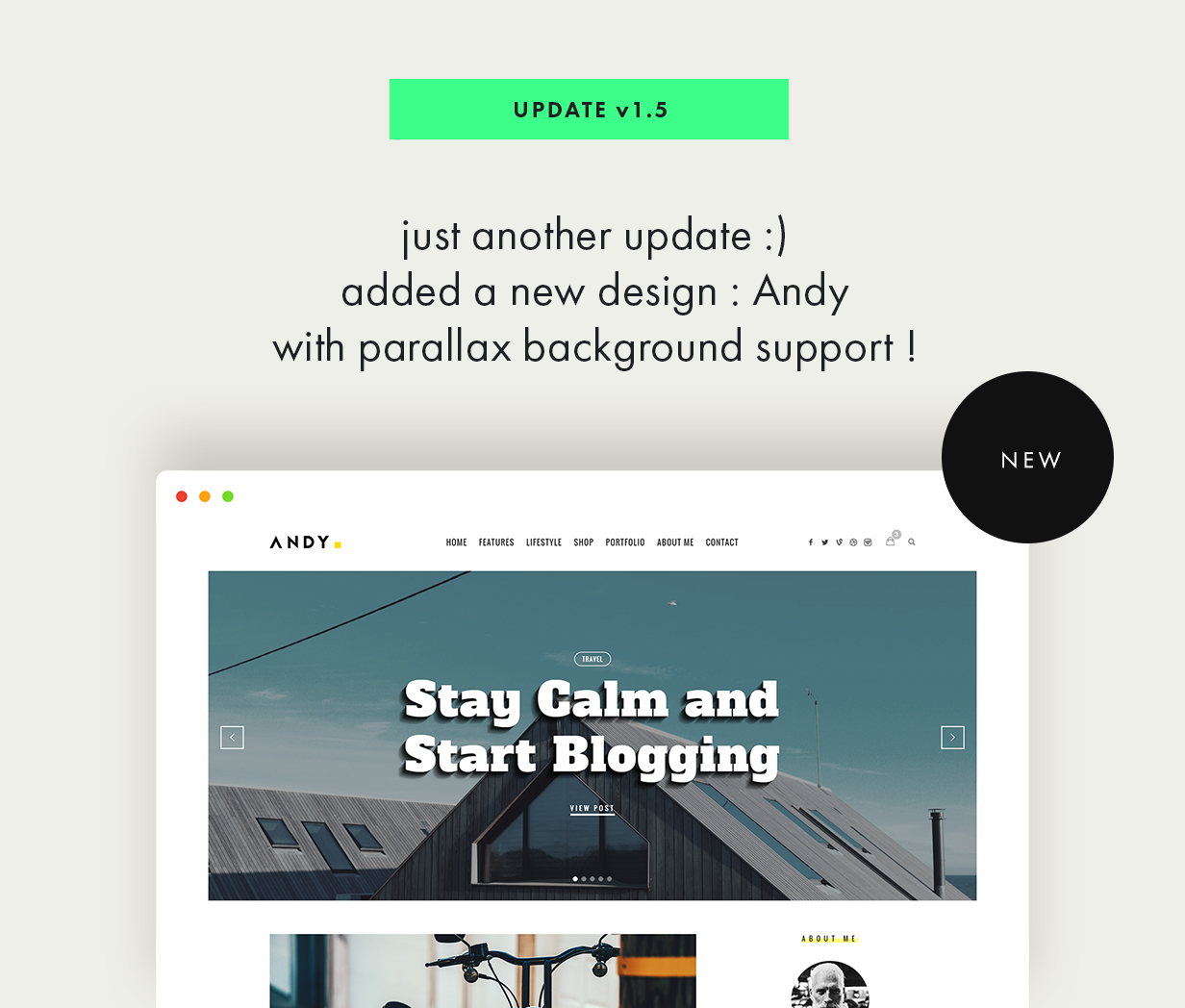 theblogger theme update v1.5