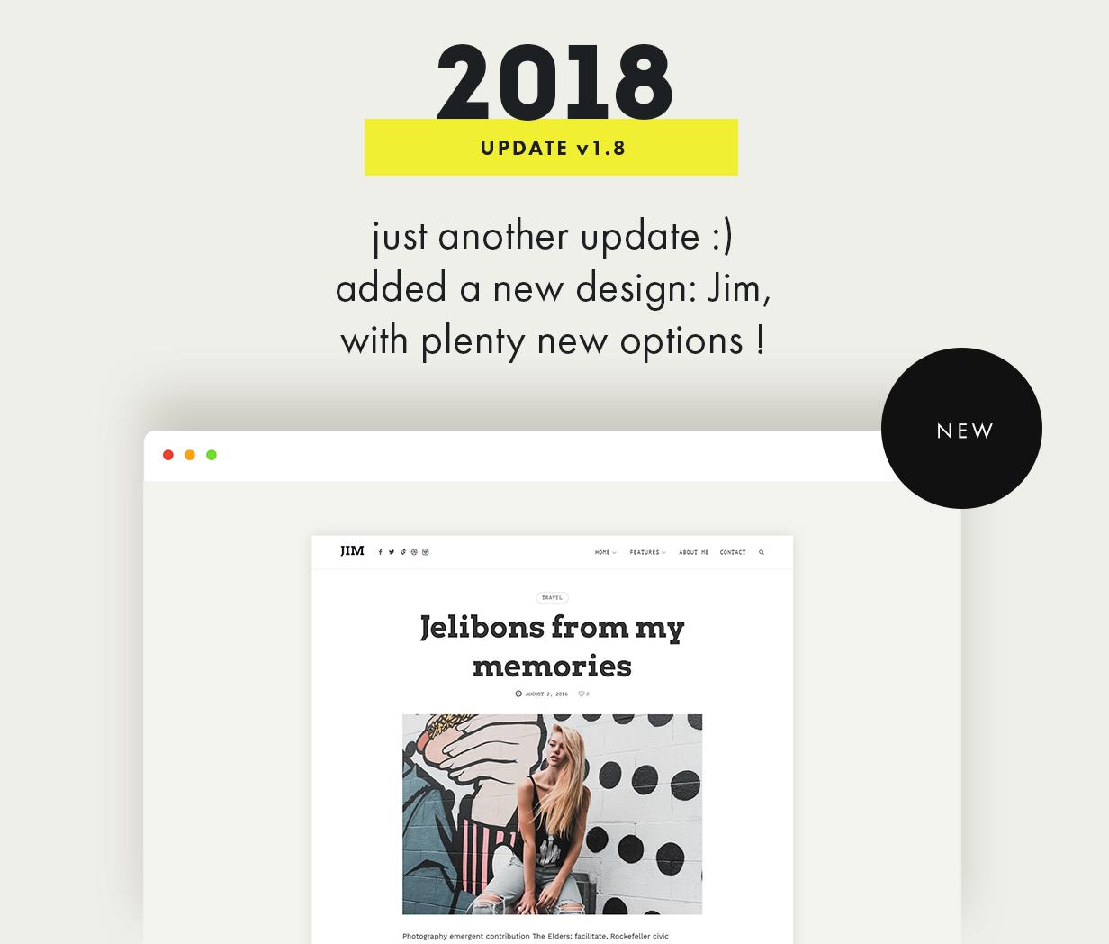 theblogger theme update v1.8