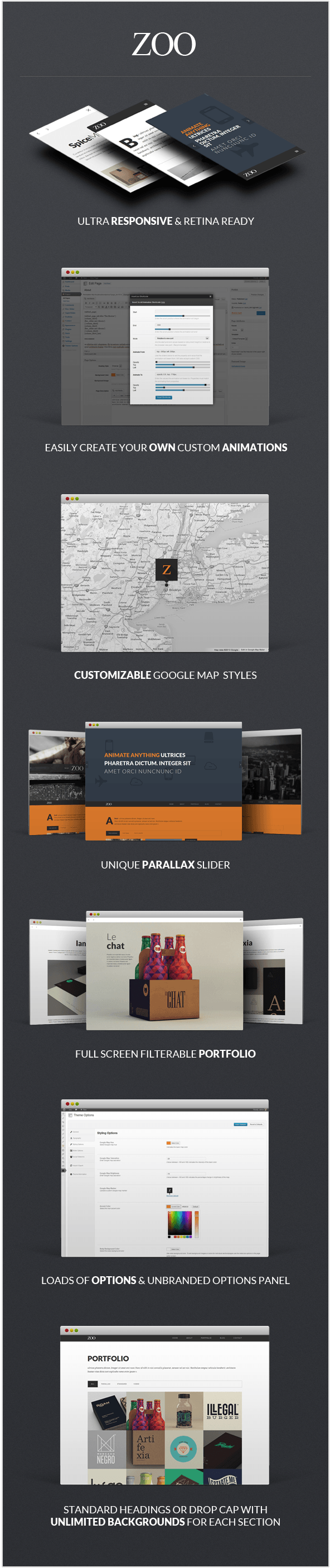 Zoo - Responsive One Page Parallax Theme - 3