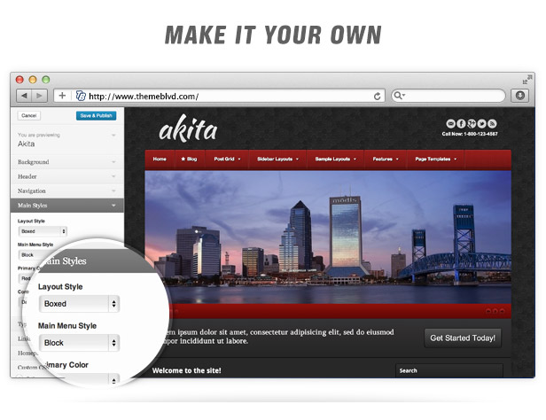 Akita Responsive WordPress Theme - 7