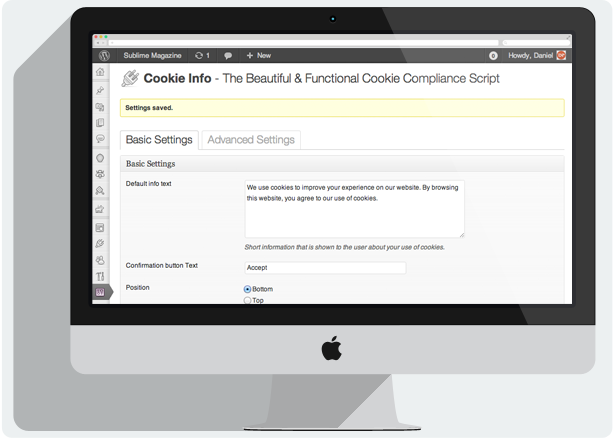 Cookie Info WP - Cookie Law Compliance Script - 2