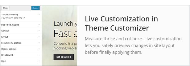 Live Customization in Theme Customizer
