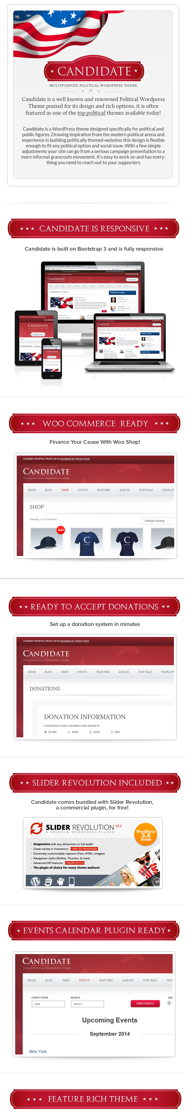 Candidate - Political WordPress Theme - 1