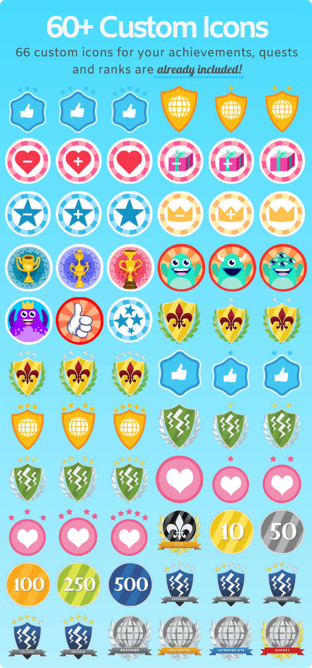 WPAchievements Icons and Badges