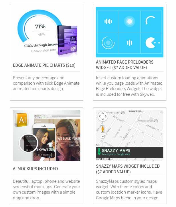 Skywell - MultiPurpose Adobe Muse Template - 14