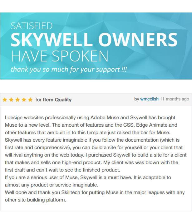 Skywell - MultiPurpose Adobe Muse Template - 7